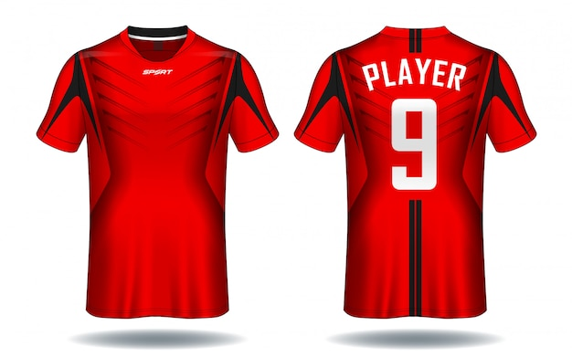 Diseño de camiseta deportiva de jersey de fútbol.