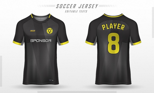 Diseño de camiseta deportiva de plantilla de camiseta de fútbol