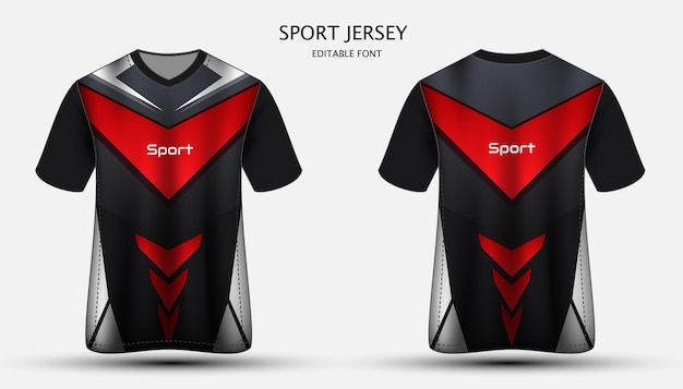 Diseño de camiseta deportiva de plantilla de jersey