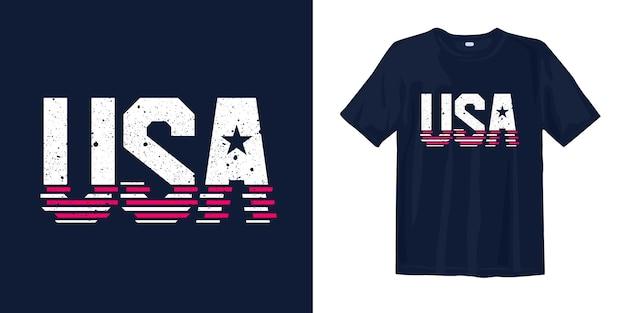 Diseño de camiseta estampada de ee. uu.