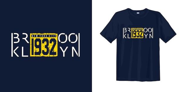 Diseño de camiseta con estampado vintage de brooklyn