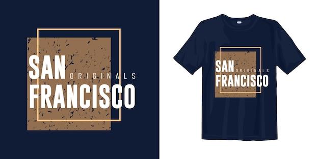 Diseño de camiseta con estilo gráfico de san francisco