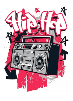 Diseño de camiseta estilo hip hop