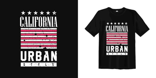 Diseño de camiseta de estilo urbano de california