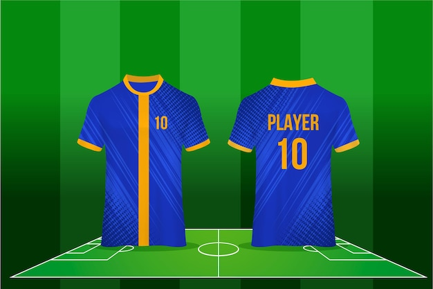 Diseño de camiseta de fútbol