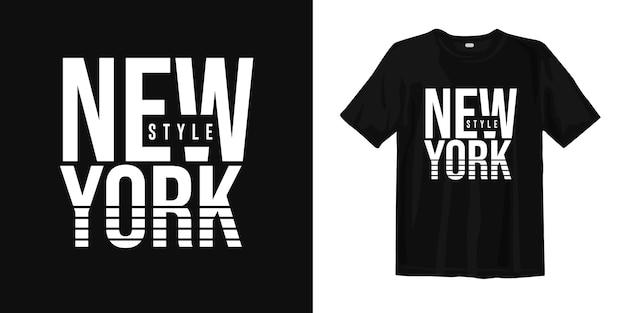 Diseño de camiseta gráfica estilo new york