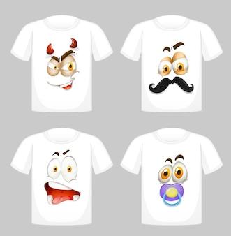 Diseño de camiseta con gráfico en la parte delantera.