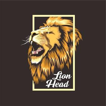Diseño de camiseta de león