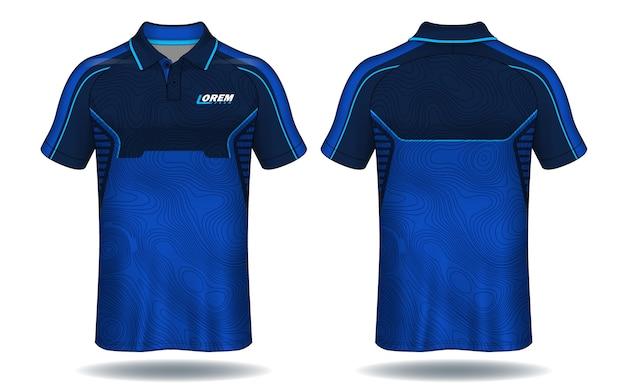 Diseño de camiseta polo, plantilla de camiseta deportiva.