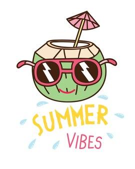 Diseño de camiseta temática de verano
