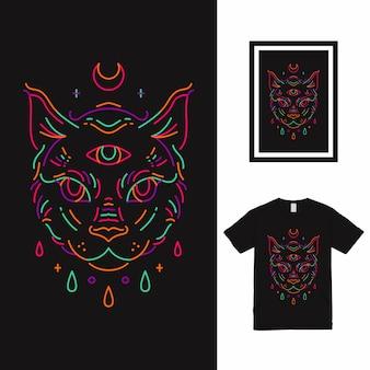 Diseño de camiseta the eyes