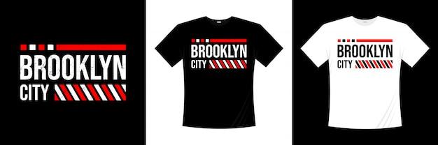 Diseño de camiseta de tipografía de la ciudad de brooklyn