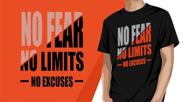 Diseño de camiseta de tipografía sin límites.