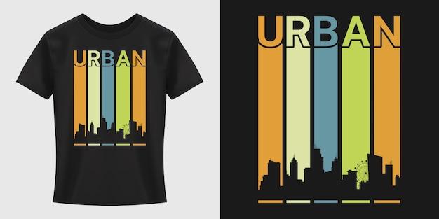 Diseño de camiseta de tipografía urbana