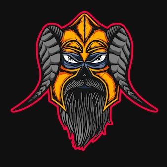 Diseño de camiseta vikinga