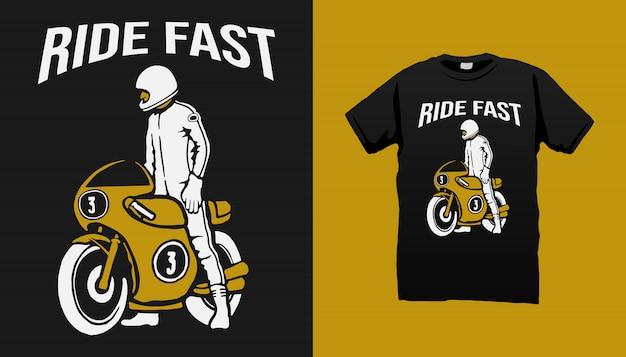 Diseño de camiseta vintage racer