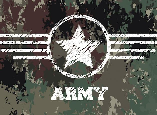 Diseño de camuflaje militar.