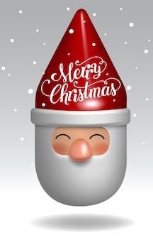 Diseño de carácter del regalo del juguete de papá noel 3d decorativo