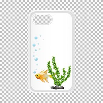 Diseño de la carcasa del teléfono con peces dorados