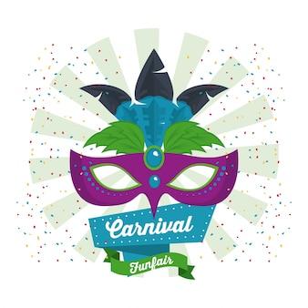 Diseño de carnaval de máscara