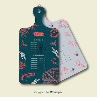 Diseño de carta de menú para restaurante. plantilla