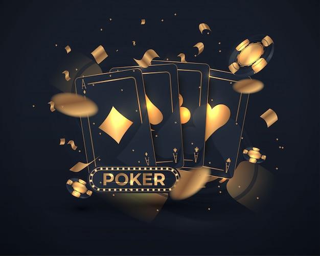 Diseño de cartas de poker de casino.