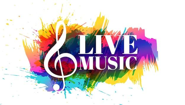 Diseño de cartel abstracto de música en vivo.