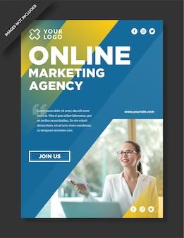 Diseño de cartel de agencia de marketing digital.