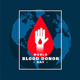 Diseño de cartel del concepto del día internacional del donante de sangre