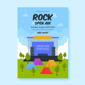 Diseño de cartel de evento de festival de música.