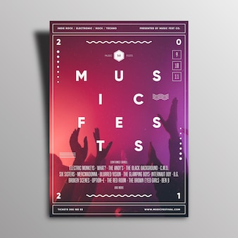 Diseño del cartel del evento musical 2021