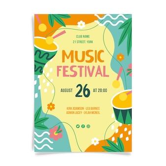Diseño del cartel del festival de música.
