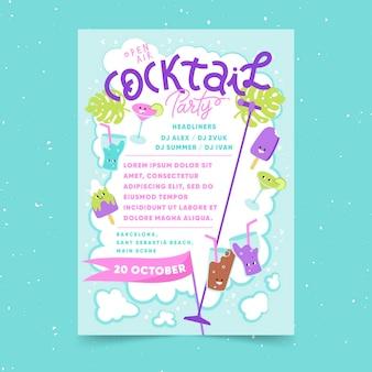 Diseño de cartel de fiesta al aire libre.