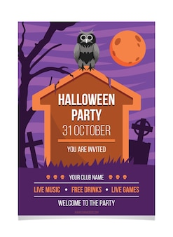 Diseño de cartel de fiesta de festival de halloween