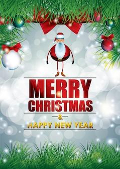 Diseño de cartel de fiesta de navidad y año nuevo.