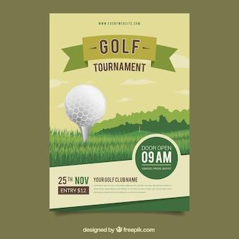 Diseño de cartel de golf