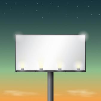 Diseño de cartel iluminado