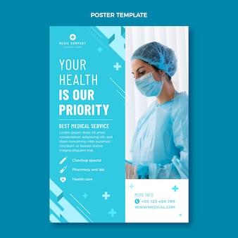 Diseño de cartel médico de diseño plano.