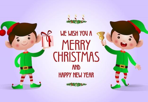 Diseño de cartel de navidad y año nuevo.