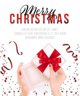 Diseño de cartel de navidad