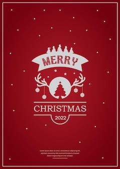 Diseño de cartel de tipografía de feliz navidad tarjeta de felicitación o invitación y deseos de vacaciones