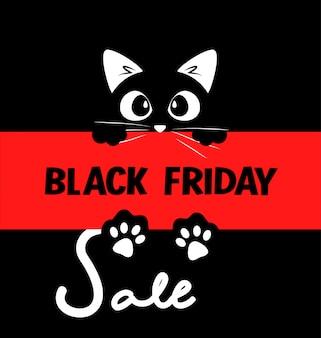 Diseño de cartel tipográfico de venta de viernes negro