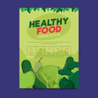 Diseño de carteles de comida saludable