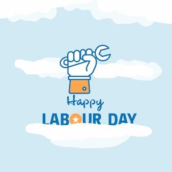 Diseño de carteles del día del trabajo