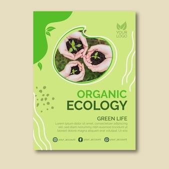 Diseño de carteles de ecología orgánica.