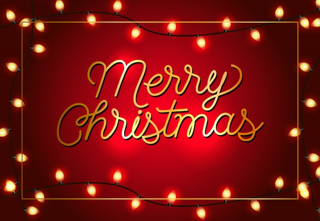 Diseño de carteles de feliz navidad. guirnaldas de navidad