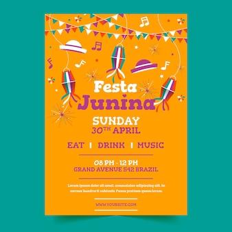 Diseño de carteles de festa junina