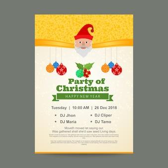 Diseño de carteles de fiesta de navidad
