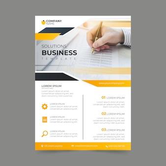 Diseño de carteles de plantillas de negocios