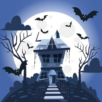 Diseño de la casa del festival de halloween